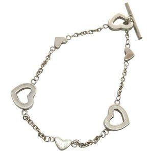 Tiffany And Co Sterling Silver Heart Link Bracelet